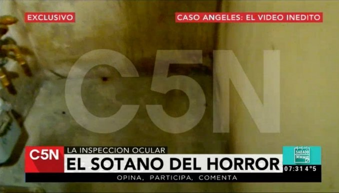 El video del horror: este es el sótano donde habrían matado a Ángeles Rawson