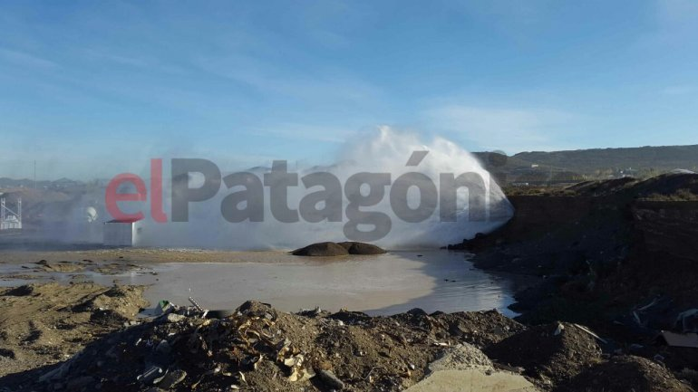Se rompió el acueducto que abastece a Rada Tilly y el corte se extenderá por más de 24 horas