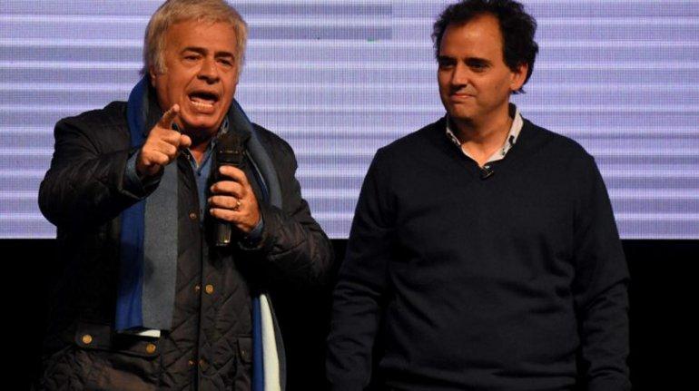 De la Sota junto a Juan Manuel Llamosas.