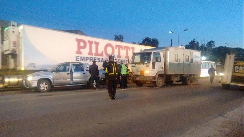 Un camión que transportaba pastillas radiactivas chocó en Ruta 3