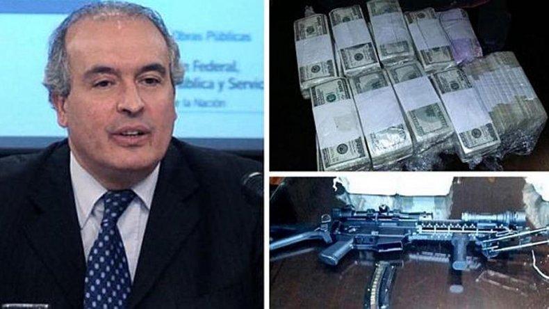 El diputado del Parlasur José López fue detenido con millones de dólares y un arma automática.