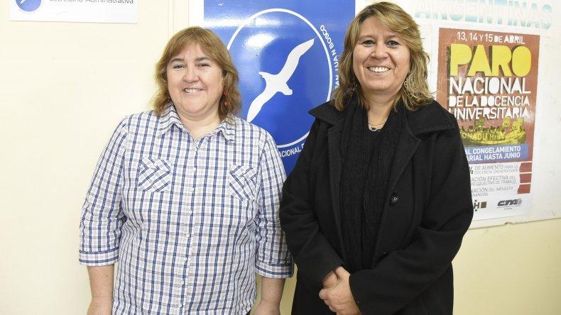 Las docentes Beatriz Escudero y Susana González
