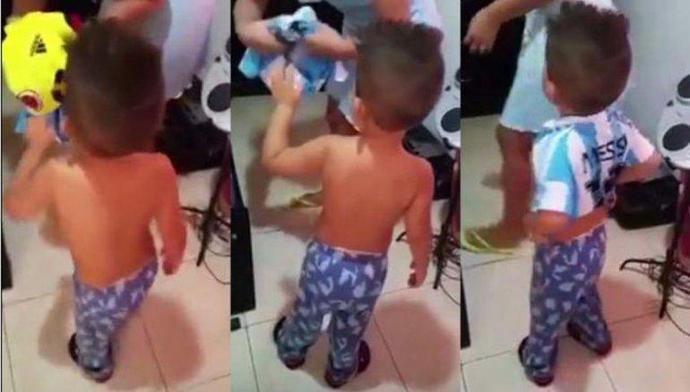 El pequeño colombiano que quiere ser argentino
