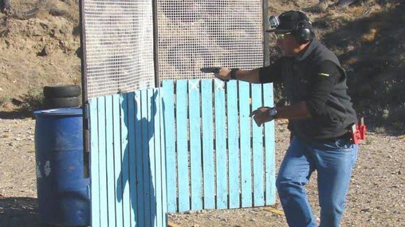 Alejandro Lucero en plena acción.