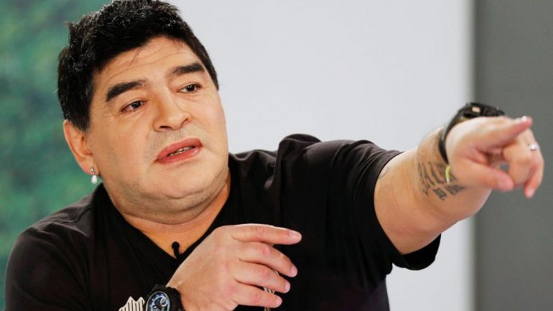 Maradona eligió a Jana para celebrar el Día del Padre