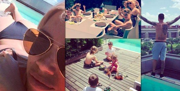 Wanda Nara y Mauro Icardi regresaron con todos sus hijos a Milán