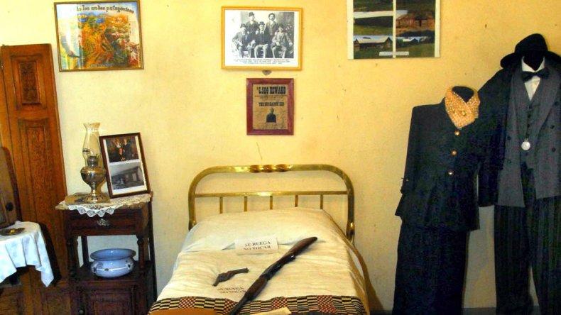 El cuarto donde se alojó Butch Cassidy se mantiene como si hubiera dormido allí ayer nomás.