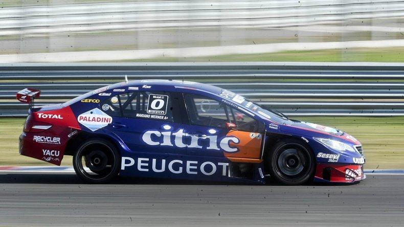 Mariano Werner dominó la clasificación del Super TC2000 ayer en el autódromo de Termas de Río Hondo.
