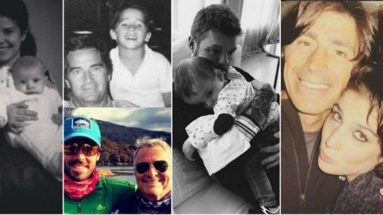 El Día del Padre de los famosos en las redes: los emotivos mensajes
