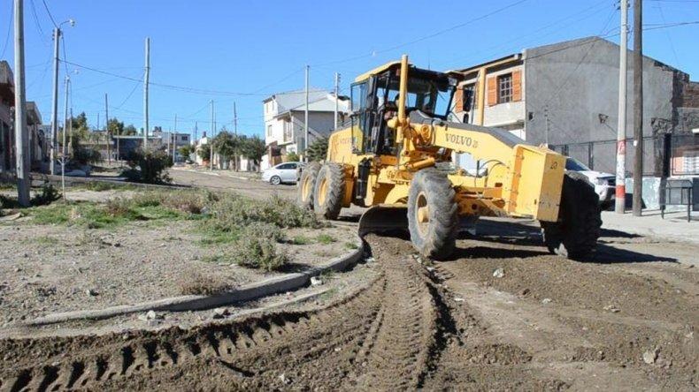 Mejoran la trama vial en más de diez barrios de la ciudad