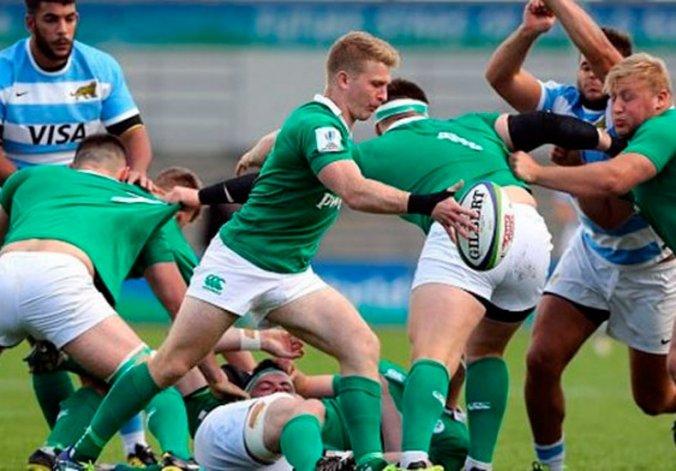 Los Pumitas fueron superados claramente ante Irlanda.