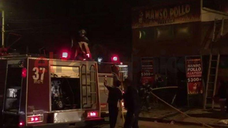 El incendio de una parrilla preocupó a los vecinos