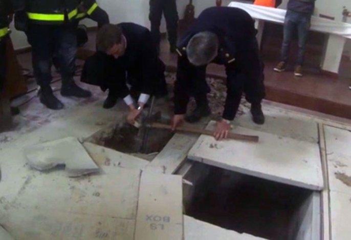 Las bóvedas halladas en el convento serían utilizadas para tumbas.