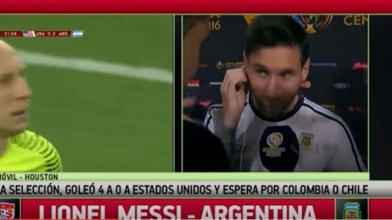 Mirá la cara de Messi al escuchar el relato del gol que le dio el récord en la Selección