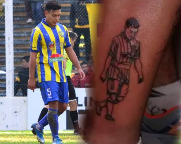 Un fanático se tatuó a un ex CAI en la pierna