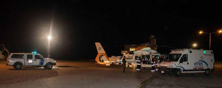 Evacuaron de urgencia a un tripulante con apendicitis en cercanías a Comodoro