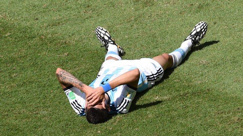 Di María podría perderse la final ante Chile