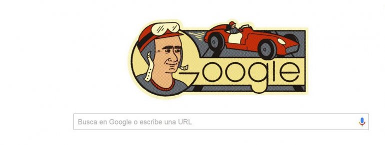Google rinde homenaje a Juan Manuel Fangio