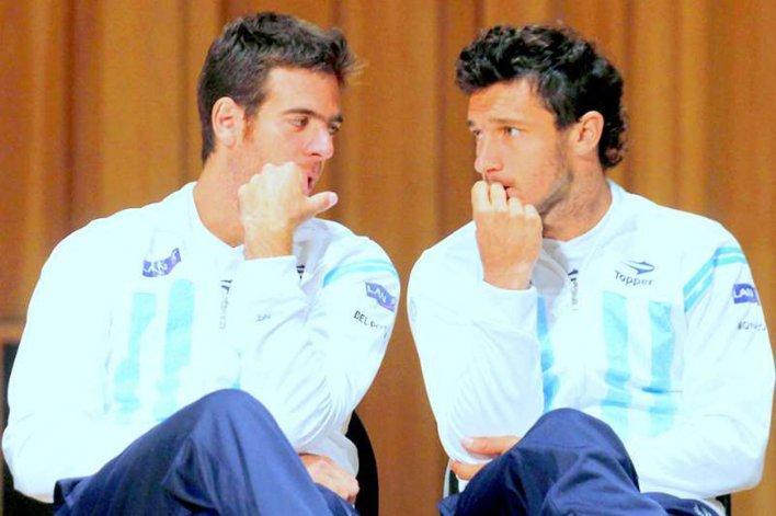 Juan Martín Del Potro y Pico Mónaco volverán a integrar el equipo argentino de la Copa Davis.