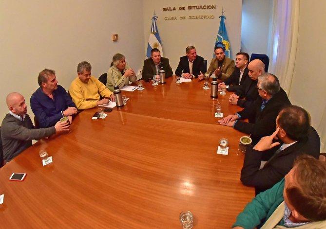 Luego de la primera reunión realizada en Casa de Gobierno