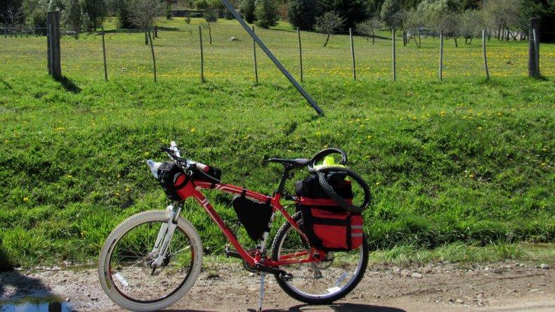Sergio tiene una página donde comparte las rutas de sus viajes (www.wikiloc.com)