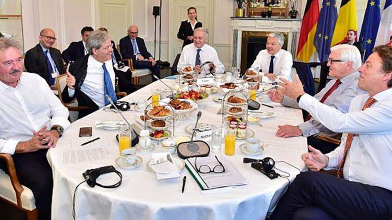 Los cancilleres de los países fundadores se reunieron en Berlín.