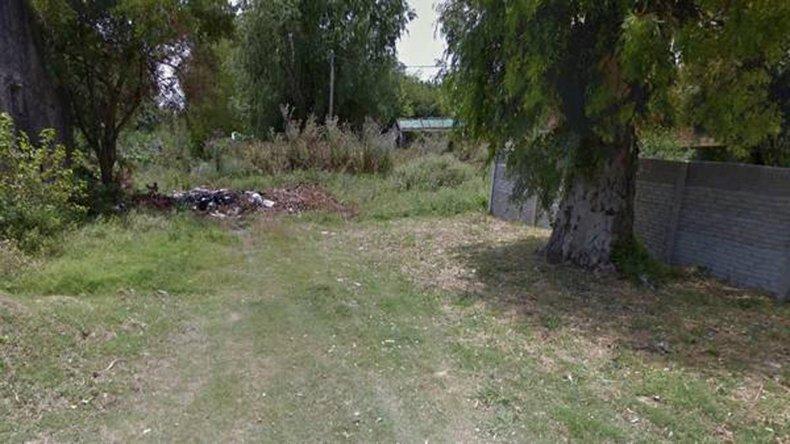 El lugar donde el cuerpo fue encontrado colgado.