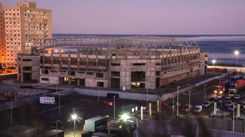 El estado de avance que muestra el Estadio del Centenario.
