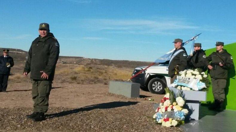 Homenajearon a los 9 gendarmes fallecidos en Ruta 3 tras la toma de Cerro Dragón