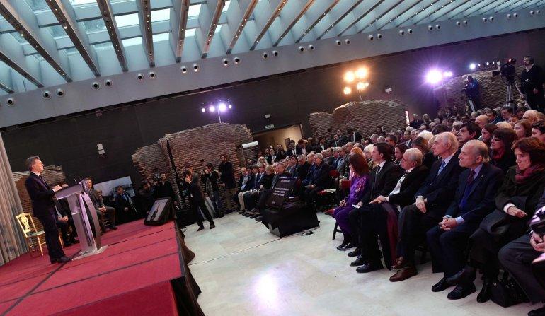 Macri reinauguró el Museo de la Casa Rosada con un homenaje a Arturo Illia.