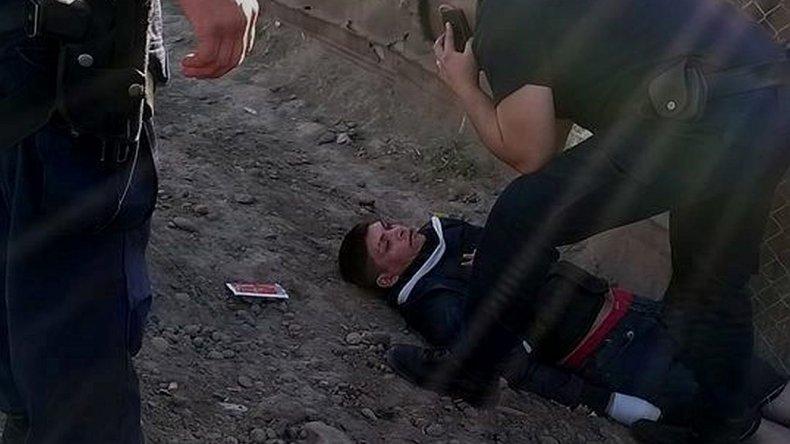 Borracho e inconsciente, el Gato Lara fue asistido por policías