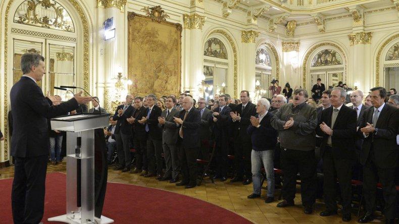Mauricio Macri presentó el proyecto de ley de producción autopartista ante empresarios del sector.