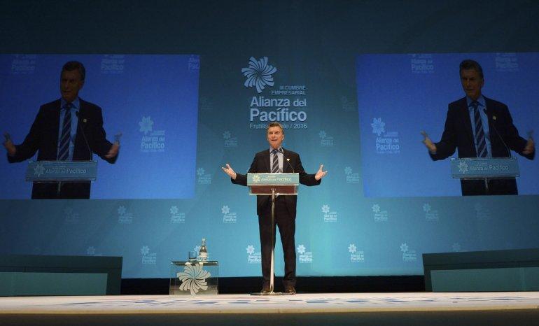 Macri durante la XI Cumbre de la Alianza del Pacífico.