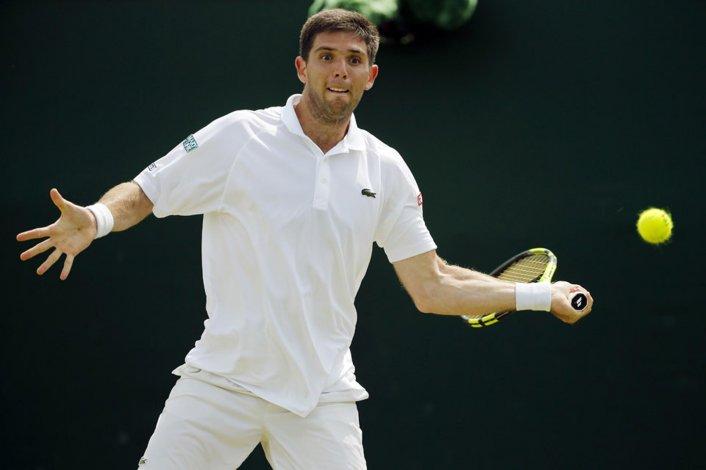 Federico Delbonis es otro de los argentinos que se despidió en la primera ronda del Abierto de Wimbledon.