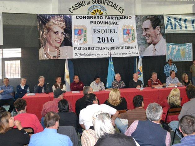 Luego del congreso partidario celebrado en Esquel
