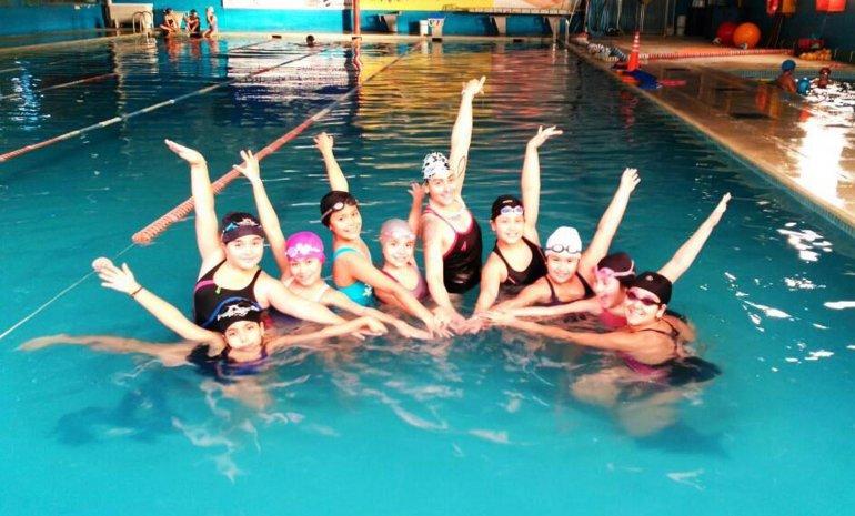 El nado sincronizado ya inició sus actividades en Puerto Madryn.