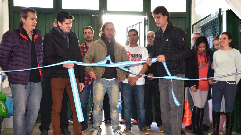 El intendente Luis Juncos y el responsable de Deportes