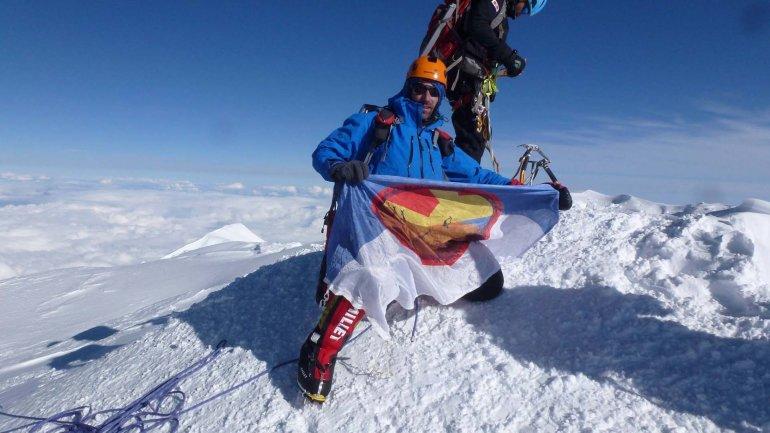 En la cumbre del Monte Denali
