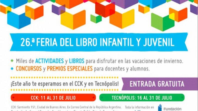 Agenda interesante presenta la próxima Feria del Libro Infantil.