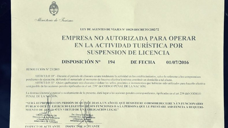 Clausuraron agencia involucrada en accidente de Miguelito