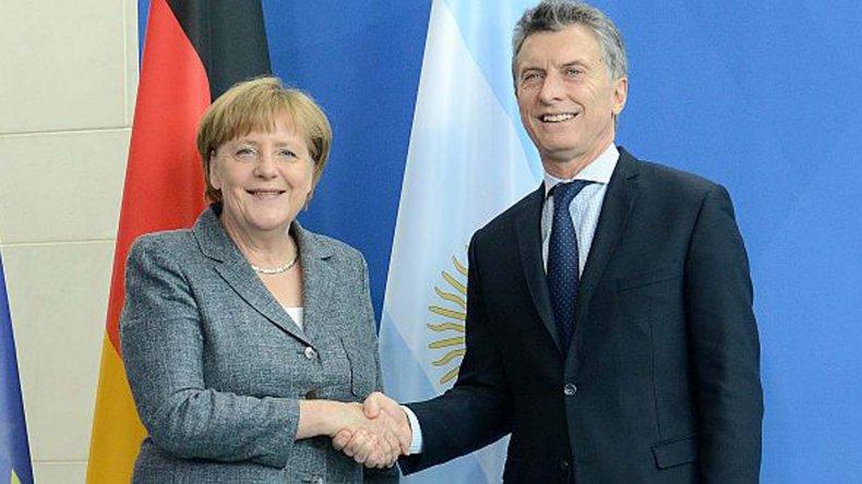 Mauricio Macri y Angela Merkel se reunieron en Alemania.