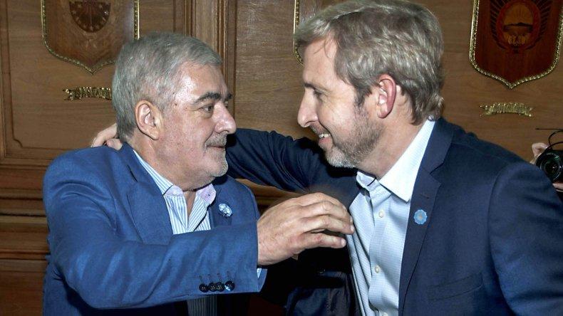 Das Neves trató con Frigerio la situación financiera de Chubut