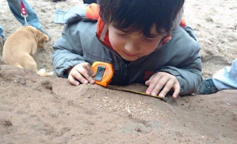 Un nene de cuatro años encontró fósiles de al menos medio millón de años