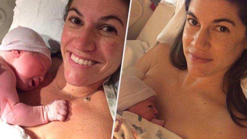 Las gemelas que dieron a luz el mismo día y a la misma hora