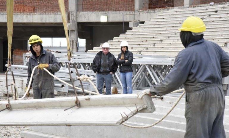La reanudación de las tareas en el Estadio del Centenario.