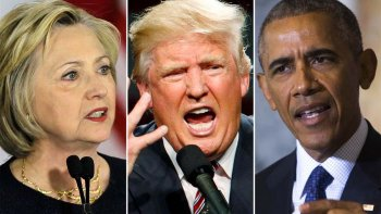 Hillary Clinton, Donald Trump y Barack Obama.