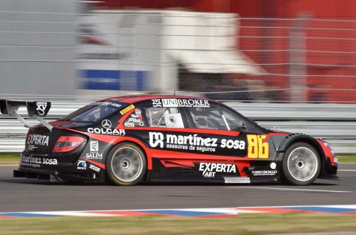 El Mercedes de Agustín Canapino que ayer dominó la clasificación en la Top Race V6.