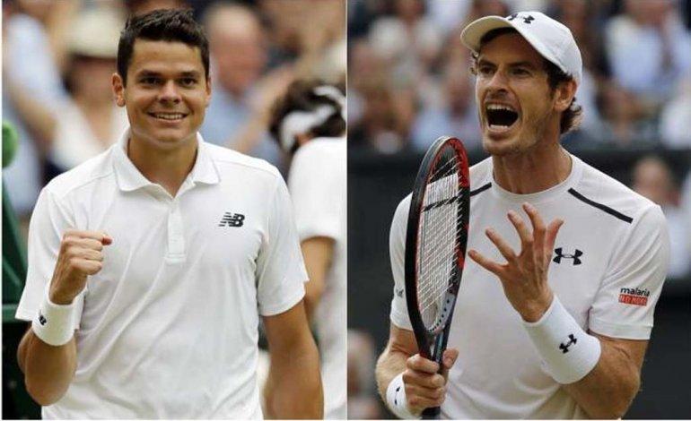 Milos Raonic y Andy Murray estarán hoy frente a frente en la definición de Wimbledon.