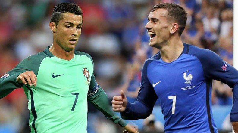 Cristiano Ronaldo y el francés Antoine Griezmann.