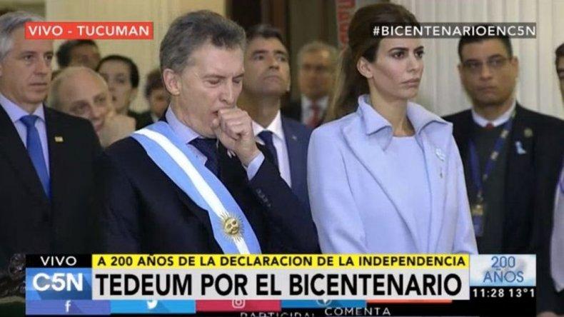 Al final, Macri asistió al cierre de los desfiles militares